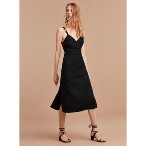 Aritzia Wilfred Astere Dress in Black Linen